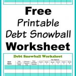 Free Printable Debt Snowball Worksheet | Living Frugally   Money   Free Printable Debt Snowball Worksheet