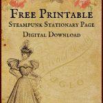 Free Printable Digital Download Stationary Page   Free Printable Stationery Paper