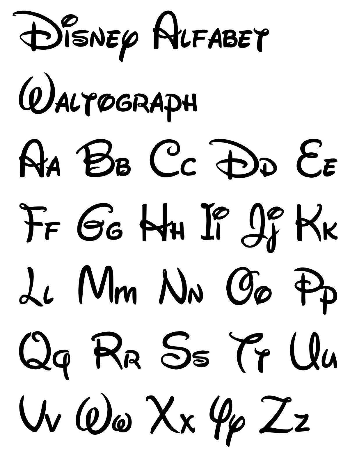 Free Printable Disney Letter Stencils | Disney In 2019 | Disney - Free Printable Calligraphy Letter Stencils