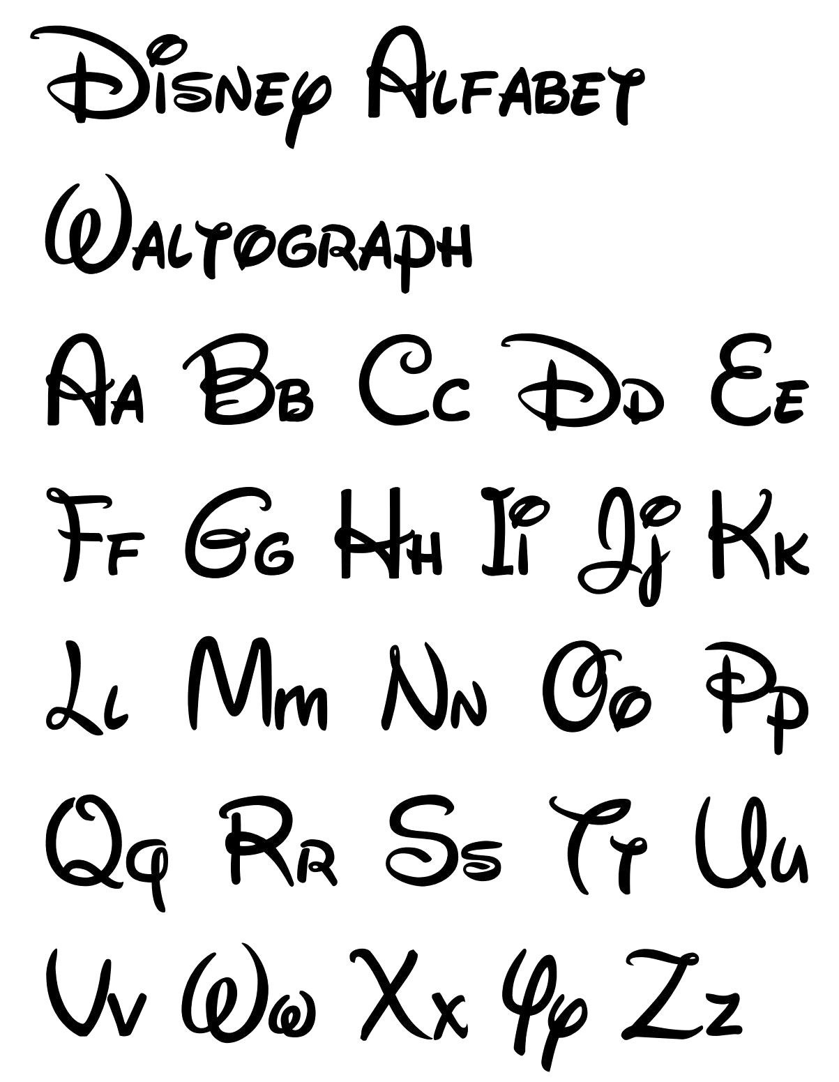 Free Printable Disney Letter Stencils | Disney In 2019 | Disney - Free Printable Fonts Stencils