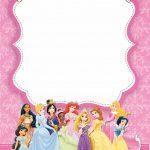 Free Printable Disney Princess Ticket Invitation | Pink And Gold   Disney Princess Birthday Invitations Free Printable