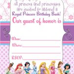 Free Printable Disney Princess Ticket Invitation | Printable   Free Printable Princess Invitation Cards