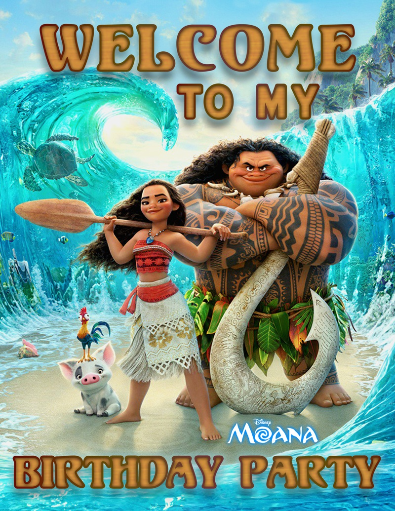 Free Printable Disney's Moana Birthday Party Decorations #moana - Moana Free Printables