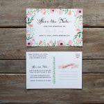 Free Printable Diy Save The Date Postcard | Wedding October 2016   Free Printable Postcard Invitations Template