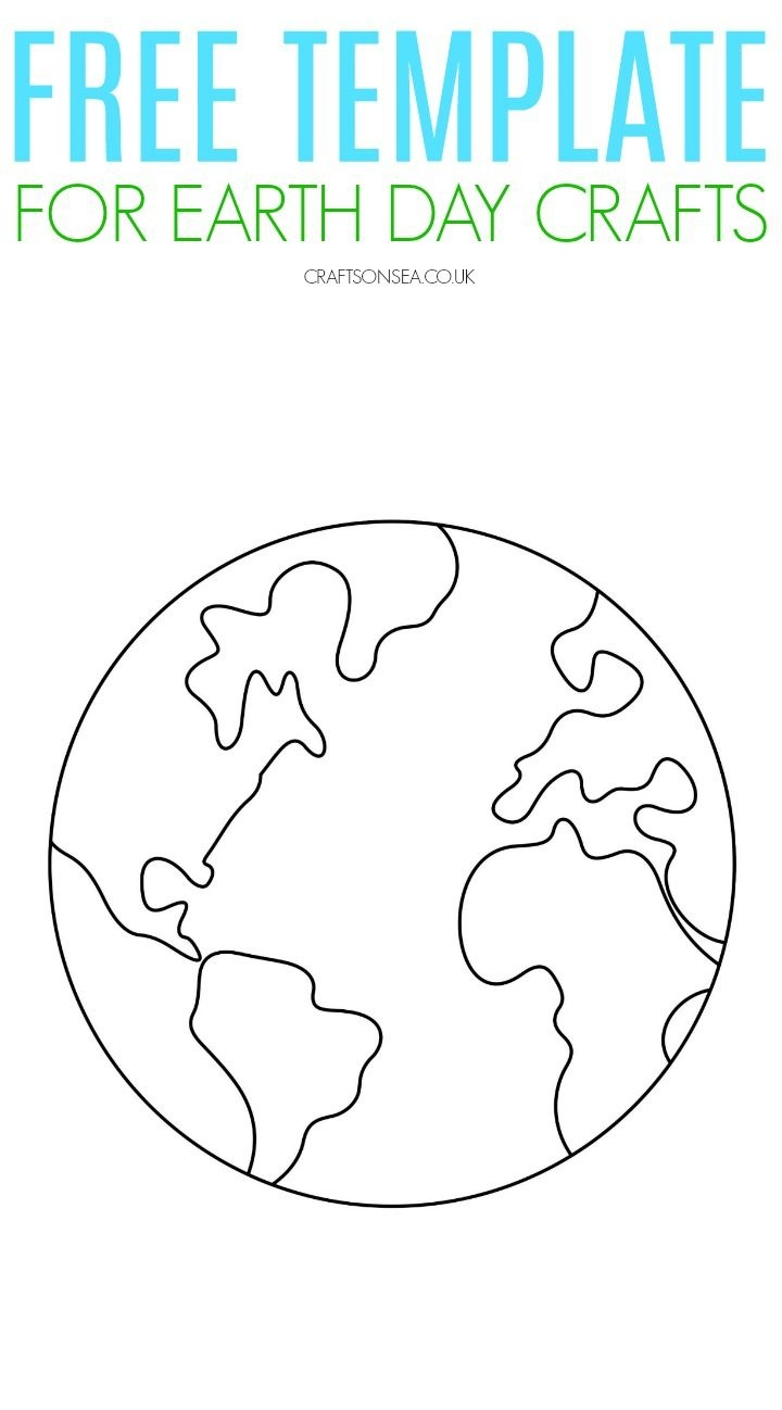 Free Printable Earth Template | Classroom | Earth Day Crafts, Earth - Free Printable Earth Pictures