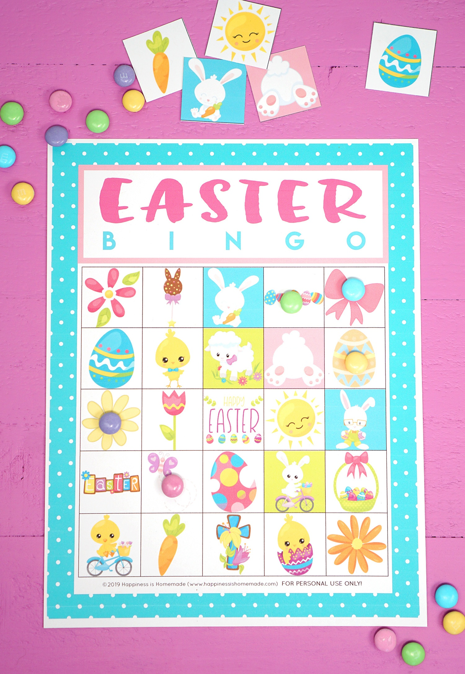 Free Printable Easter Bingo Game Cards - Happiness Is Homemade - Free Bingo Printable