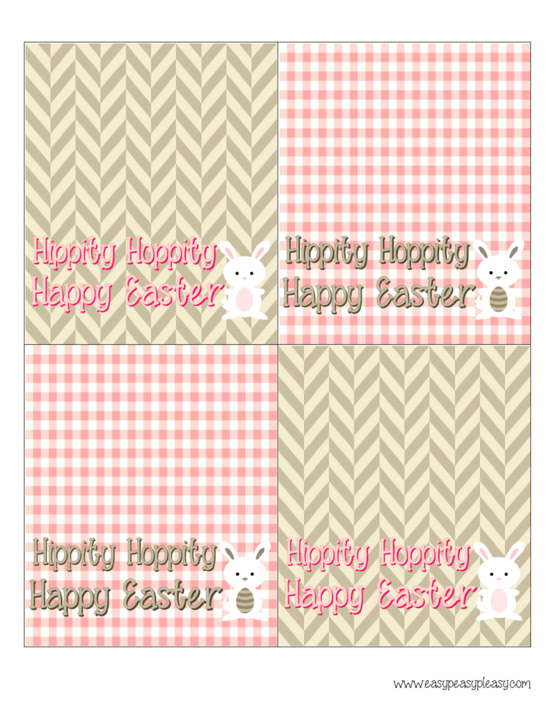 Free Printable Easter Treat Bag Toppers - Easy Peasy Pleasy - Free Printable Bag Toppers