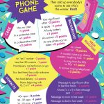 """Free Printable: Easy, Simple """"the Phone Game""""! Hen Party Game Idea   Free Printable Women's Party Games"""