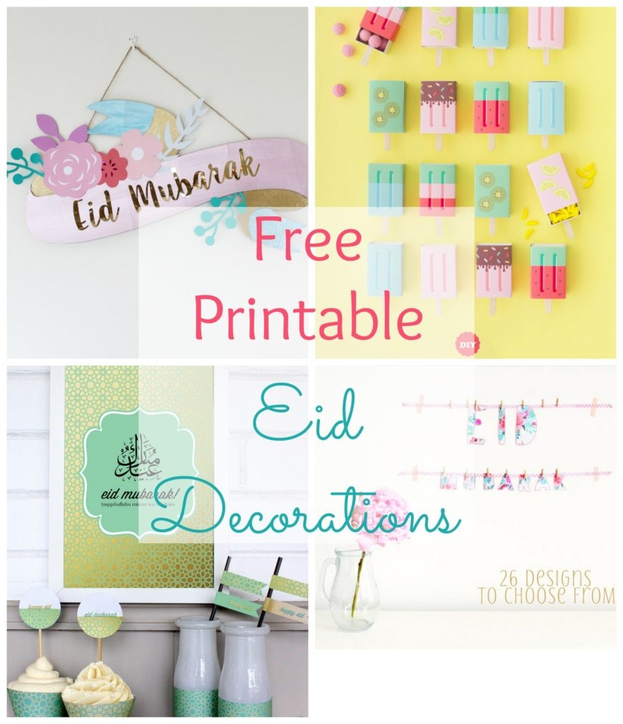 Free Printable Eid Decorations | The Muslimah Guide - Eid Cards Free Printable