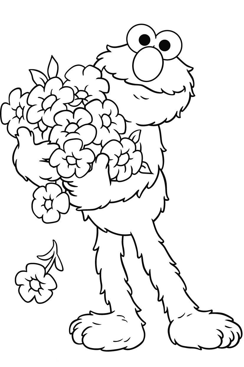 Free Printable Elmo Coloring Pages For Kids | Fun Stuff :d | Elmo - Elmo Color Pages Free Printable