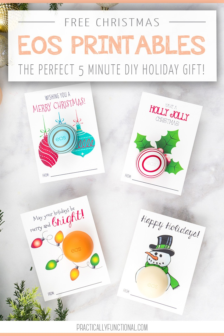 Free Printable Eos Lip Balm Christmas Gifts - Free Printable Eos Christmas Card