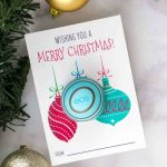 Free Printable Eos Lip Balm Christmas Gifts | Practically Functional   Free Printable Eos Christmas Card