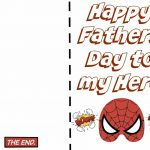 Free Printable Fathers Day Super Hero Cards. Just Print Out And Let   Free Printable Fathers Day Cards