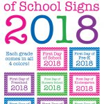 Free Printable First Day Of School Signs For 2018 | Chickabug   Free Printable First Day Of School Signs 2018