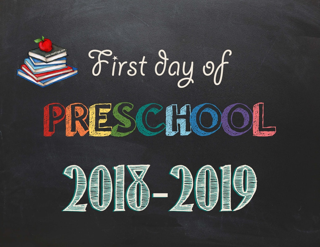 Free Printable First & Last Day Of School Signs 2018-2019 - Neatlings - Free Printable First Day Of Preschool Sign