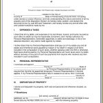 Free Printable Florida Last Will And Testament Form   Form : Resume   Free Printable Florida Last Will And Testament Form