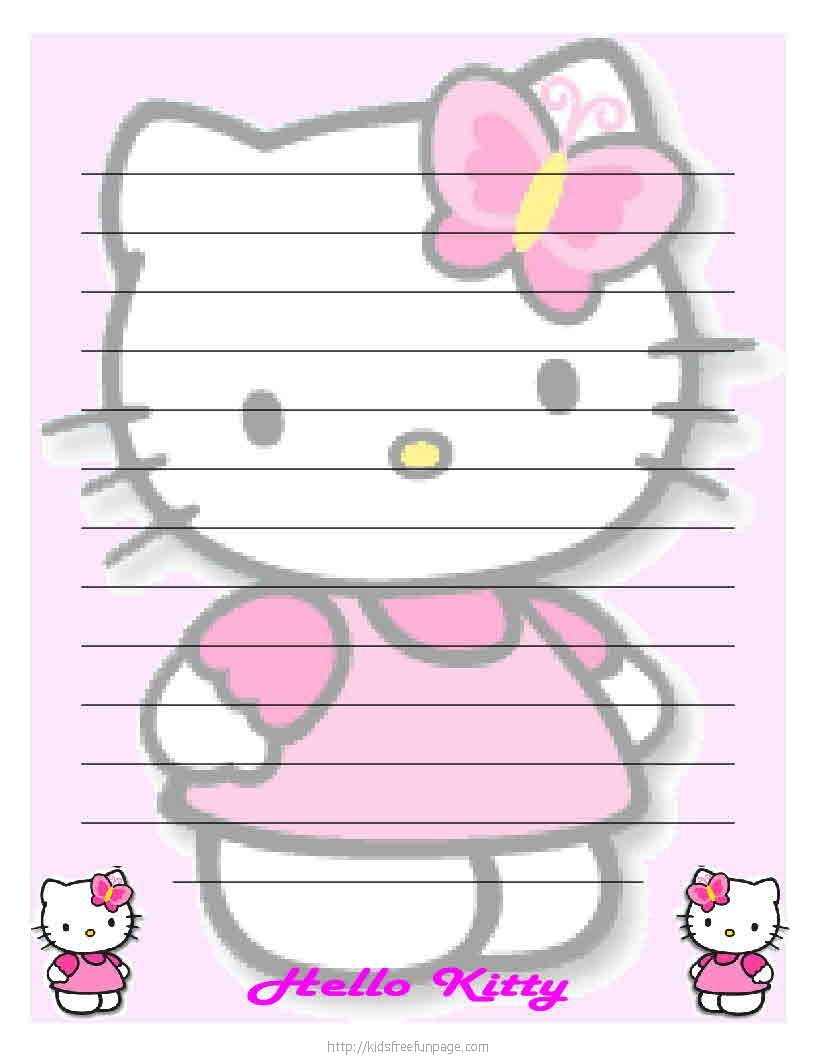 Free Printable For Pin The Bow On Hello Kitty! Description From - Free Printable Hello Kitty Stationery