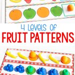Free Printable Fruit Themed Pattern Activity   Life Over Cs   Free Printable Patterns