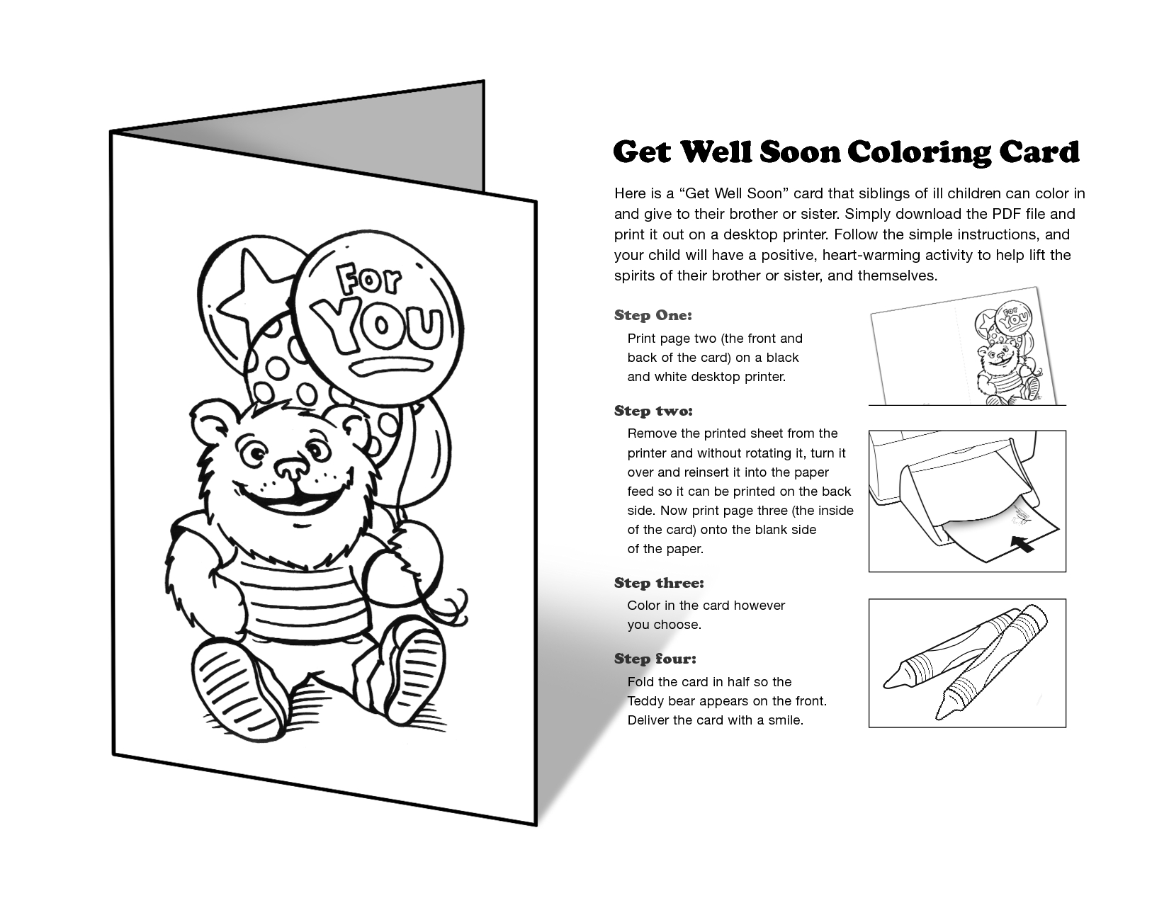 Free Printable Get Well Cards To Color - Printable Cards - Free Printable Get Well Card For Child To Color