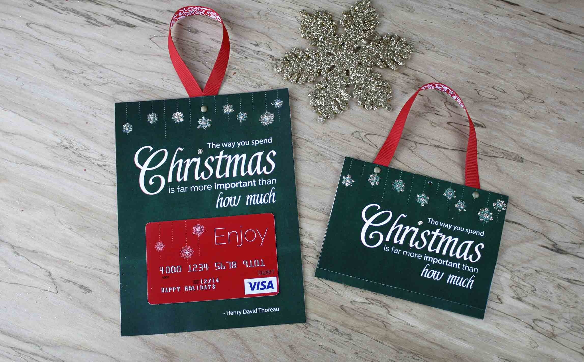 Free Printable| Gift Card Holder Spend Christmas - Free Printable Christmas Money Holder Cards