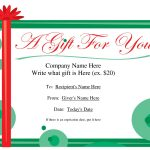 Free Printable Gift Certificate Template | Free Christmas Gift   Free Printable Gift Certificate Christmas
