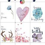Free Printable Gift Tags For Birthdays | Designertrapped   Free Printable Birthday Tags