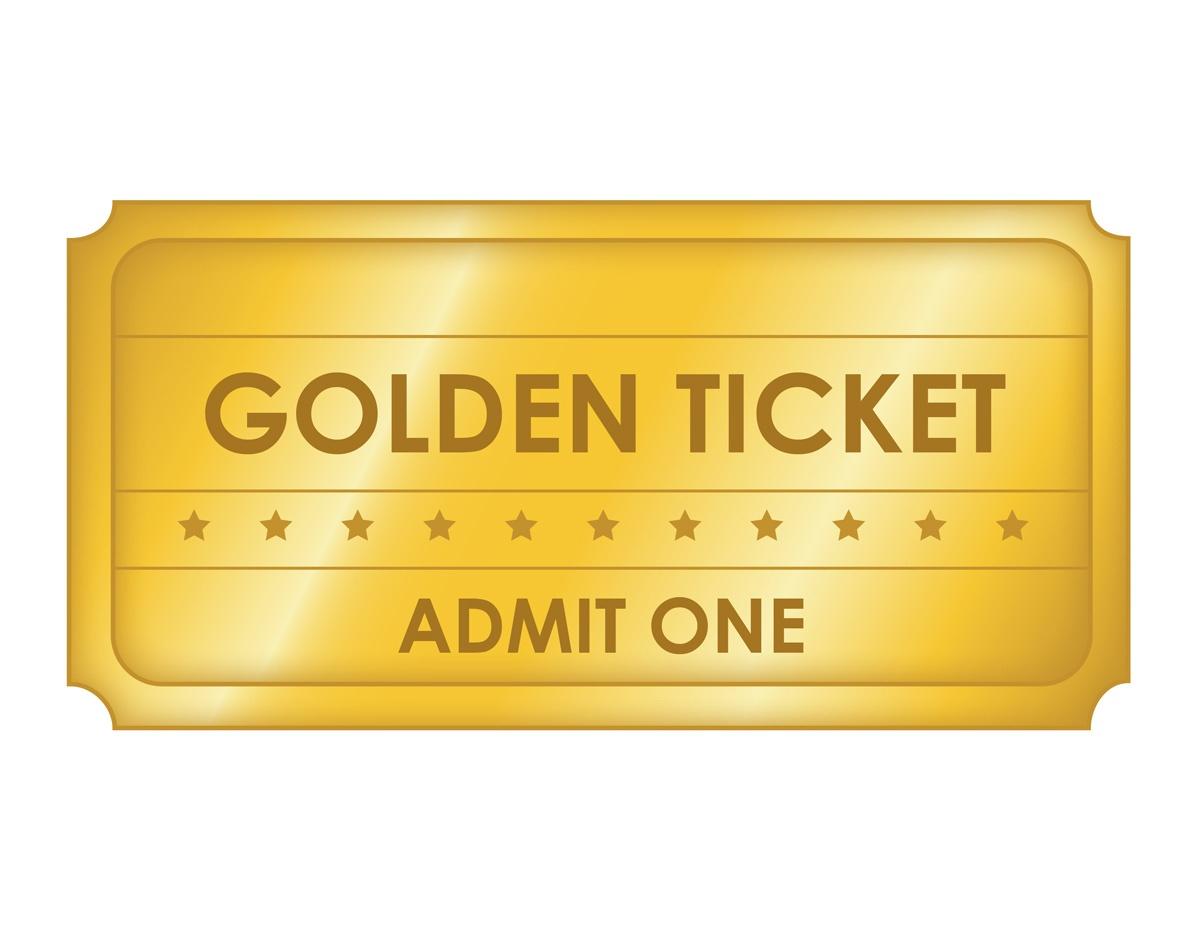 Free Printable Golden Ticket Templates | Blank Golden Tickets - Golden Ticket Printable Free