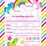 Free Printable Golden Unicorn Birthday Invitation Template   Free Printable Party Invitations