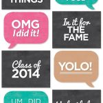 Free Printable} Grad Photo Booth Signs   Crafting Ideas   Graduation   Free Printable Graduation Signs