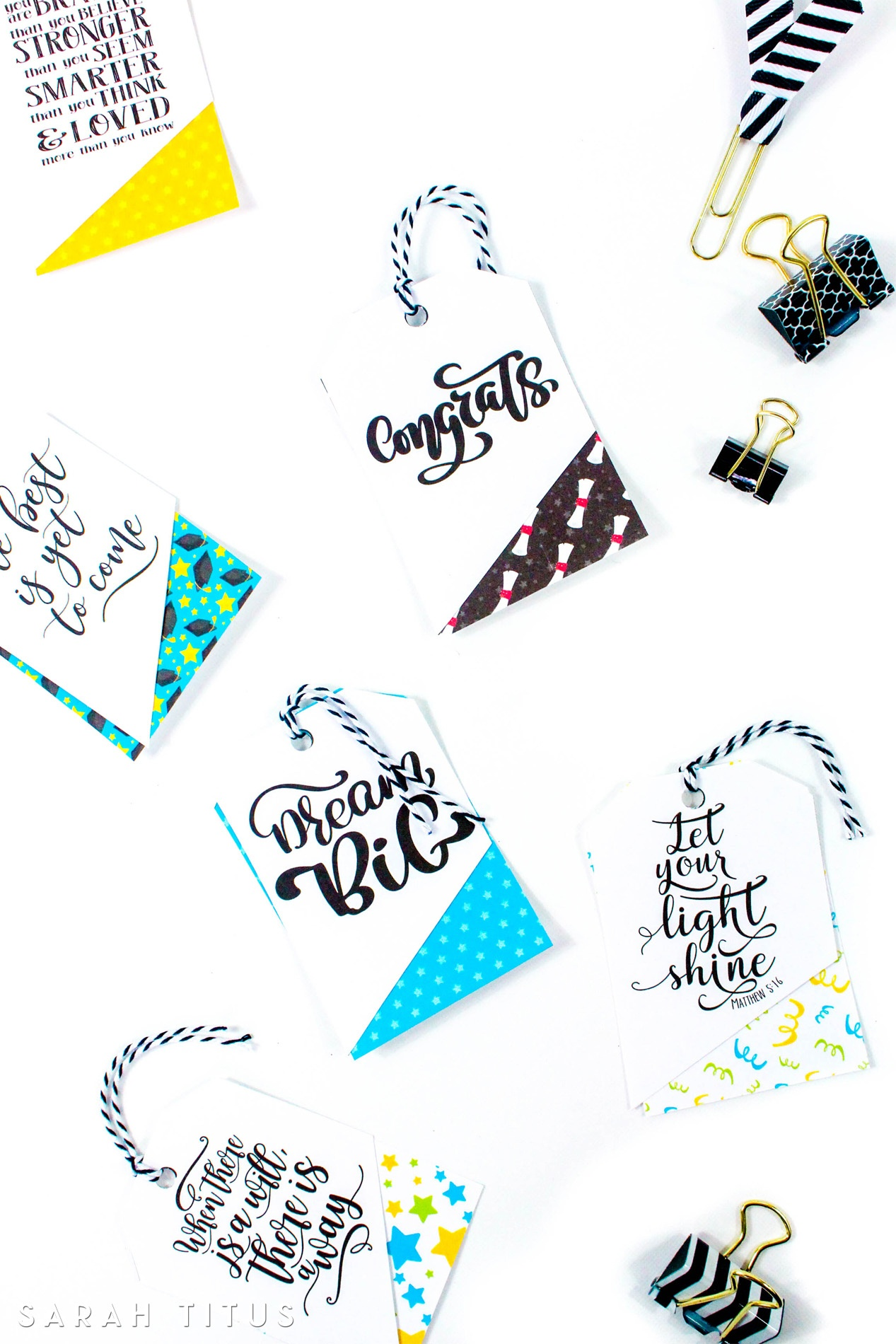 Free Printable Graduation Gift Tags - Sarah Titus - Free Printable Graduation Signs