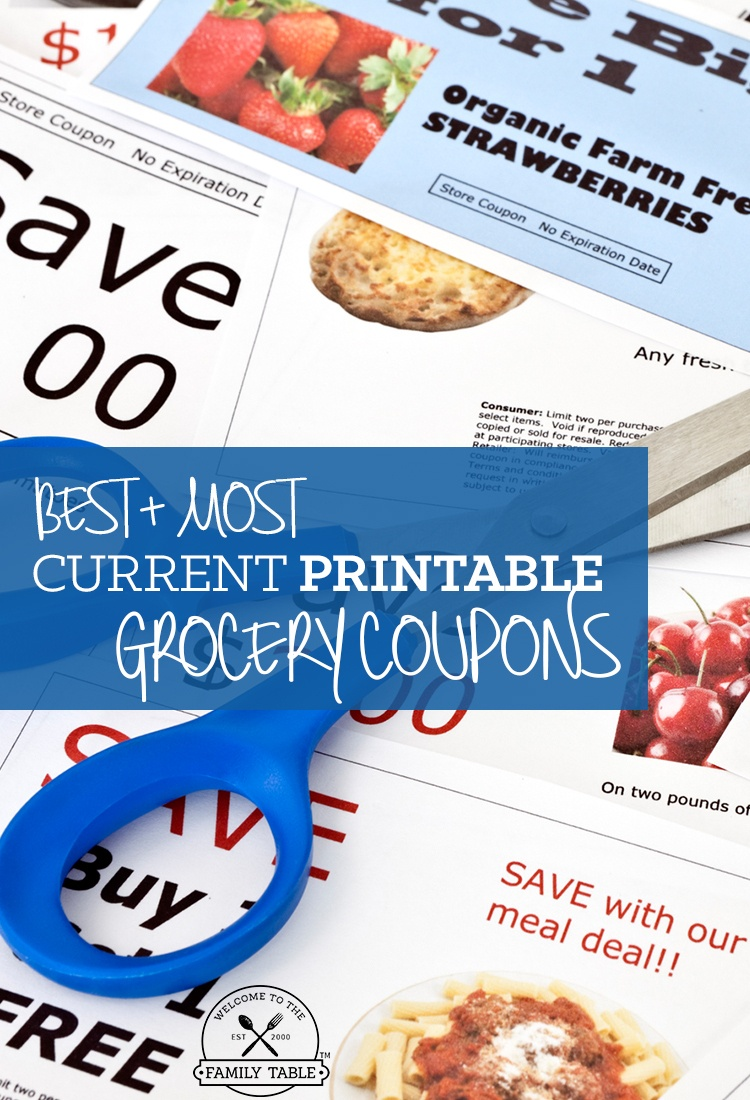 Free Printable Grocery Coupons - Welcome To The Family Table™ - Free Printable Grocery Coupons
