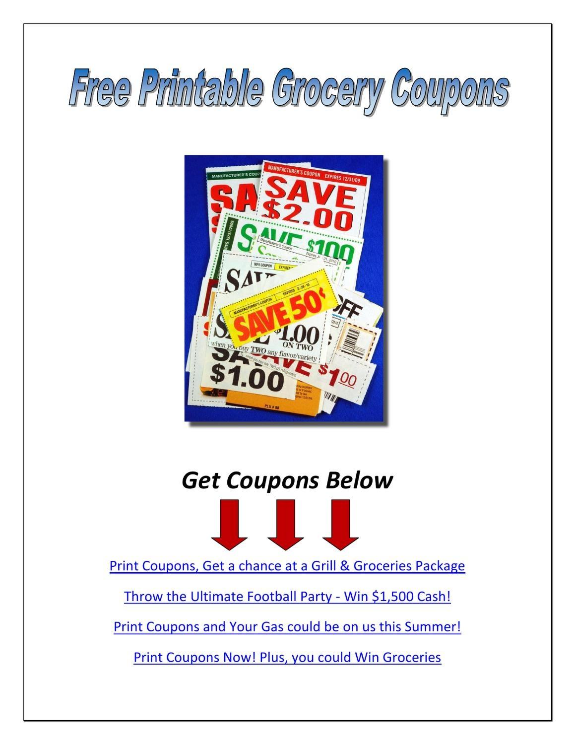 Free Printable Grocery Couponsdavid Wabasse - Issuu - Manufacturer Coupons Free Printable Groceries