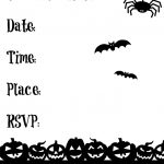 Free Printable Halloween Garland | Making Life Blissful   Halloween Invitations Free Printable Black And White