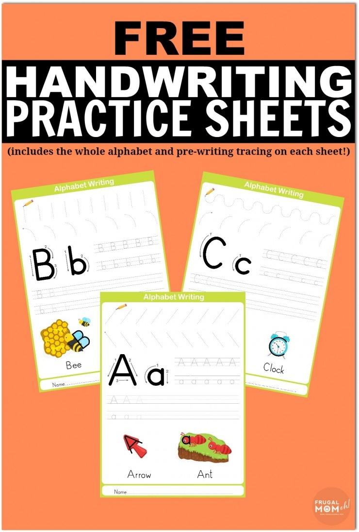 Free Printable Handwriting Worksheets Including Pre-Writing Practice - Free Printable Worksheets Handwriting Practice