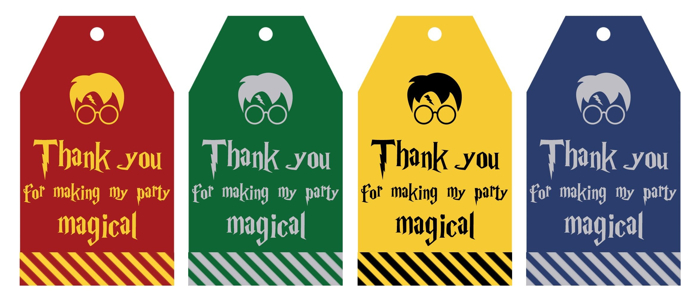 Free Printable Harry Potter Party Favor Gift Tags - Lovely Planner - Free Printable Thank You For Coming To My Party Tags