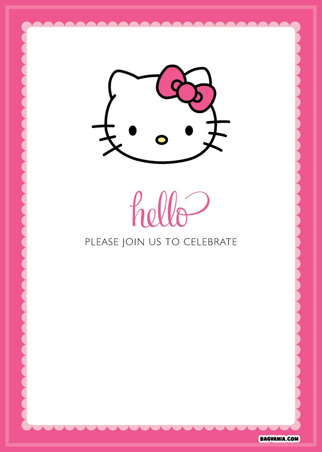 Free Printable Hello Kitty Birthday Invitations – Bagvania Free - Hello Kitty Labels Printable Free