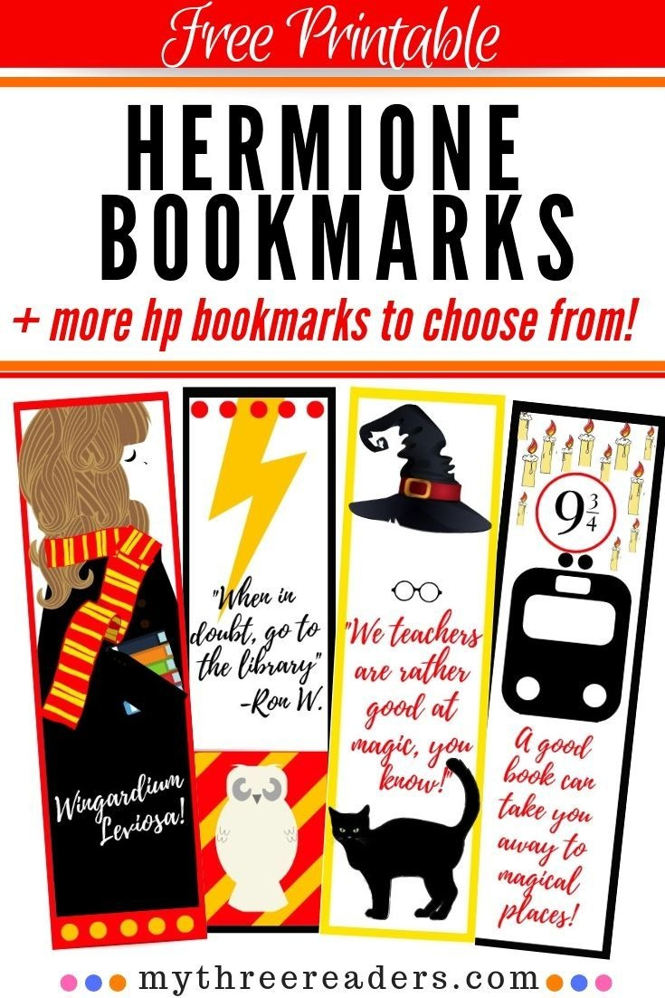 Free Printable Hermione Bookmarks For Your Hp Bookworm! | Elementary - Harry Potter Printables Pdf Free