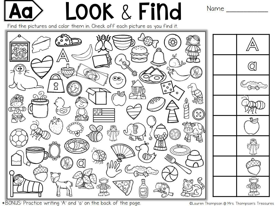 It is a photo of Tactueux I Spy Printable Worksheets
