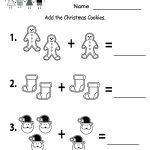 Free Printable Holiday Worksheets | Free Christmas Cookies Worksheet   Free Printable Worksheets For Kindergarten Teachers