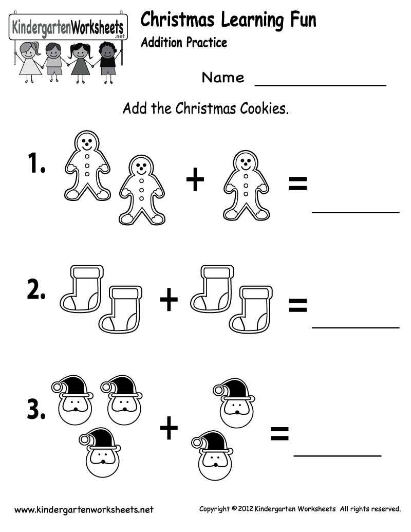 Free Printable Holiday Worksheets | Free Christmas Cookies Worksheet - Free Printable Worksheets For Kindergarten Teachers