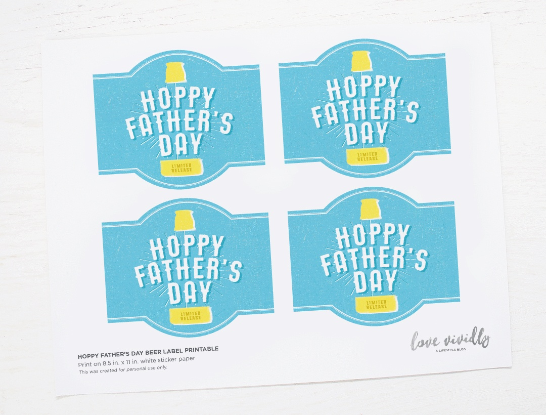 Free Printable! Hoppy Father's Day Beer Label - Free Beer Printables