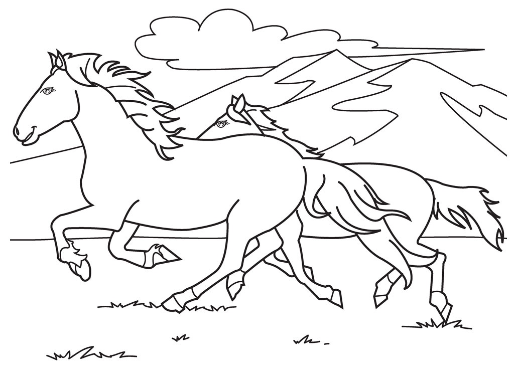 Free Printable Horse Coloring Pages For Kids - Free Horse Printables