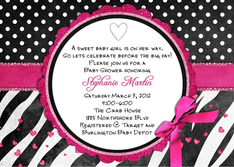 Free Printable Hot Pink Zebra Invitations | Free Printable Zebra - Free Printable Pink Zebra Baby Shower Invitations