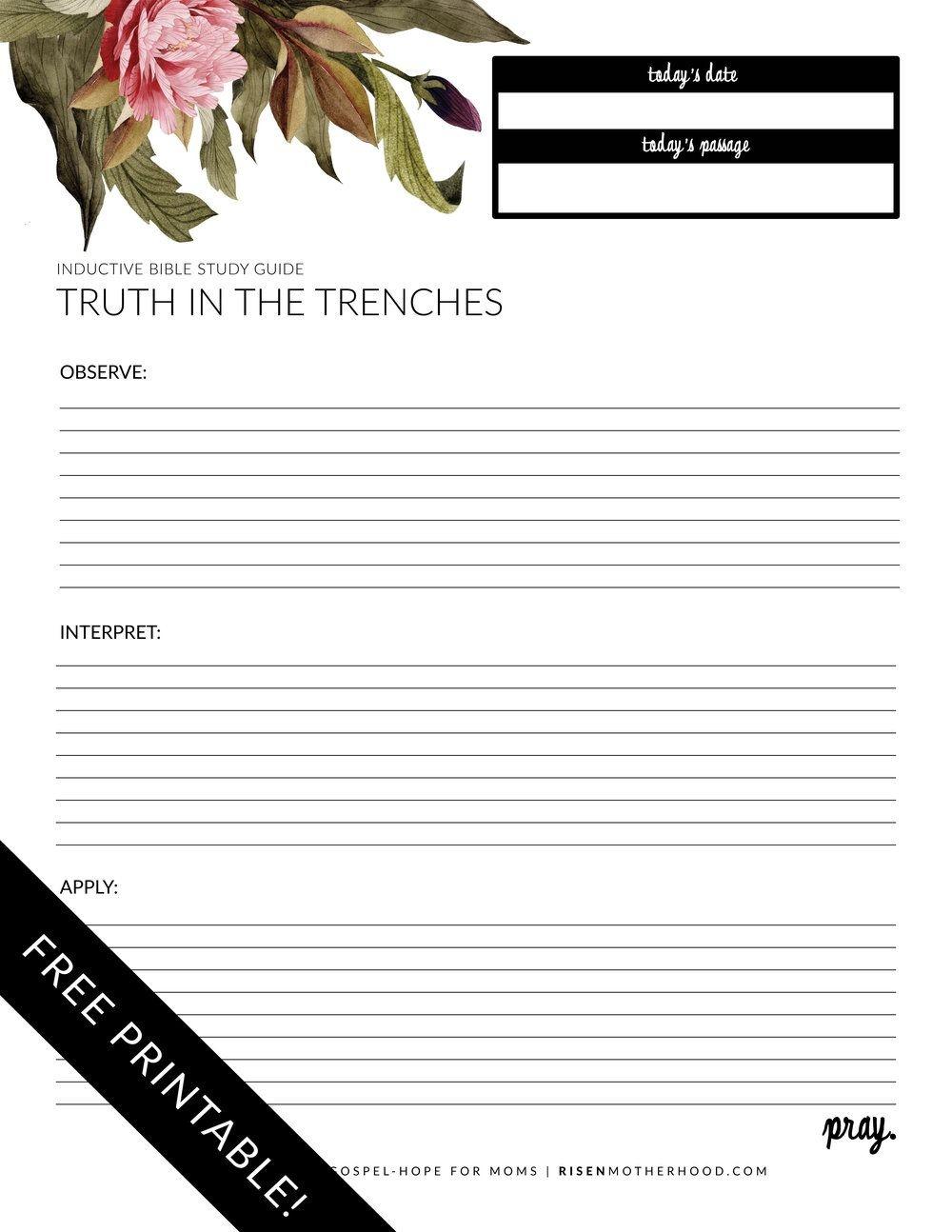 Free Printable: Inductive Bible Study Worksheets & Companion Card - Free Printable Bible Study Lessons