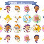 Free Printable Invitation: Bubble Guppies Free Collage 1 Inch.   Bubble Guppies Free Printables