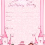 Free Printable Invitation. Pinned For Kidfolio, The Parenting Mobile   Free Printable Princess Invitation Cards
