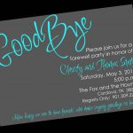 Free Printable Invitation Templates Going Away Party … | Party Ideas   Free Printable Farewell Card For Coworker