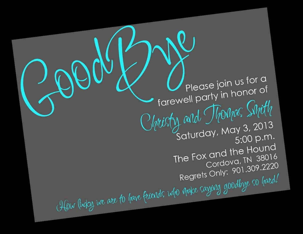 Free Printable Invitation Templates Going Away Party …   Party Ideas - Free Printable Farewell Card For Coworker