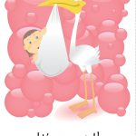 Free Printable 'it's A Girl' Greeting Card | Baby Shower | Baby   Free Printable Baby Shower Card