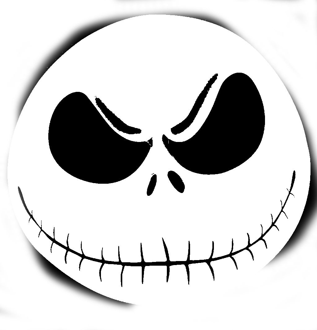 Free Printable Jack Skellington Pumpkin Carving Stencil Templates - Free Printable Jack Skellington Pumpkin Stencils